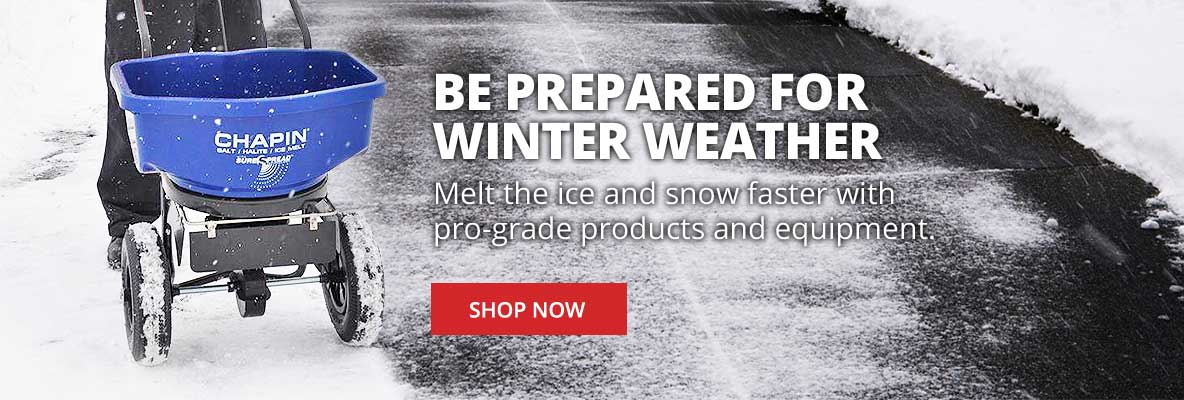 Melt the ice & snow faster with pro-grade products and equipment