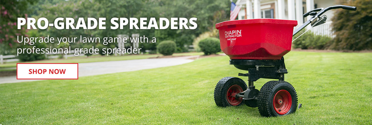 Upgrade your lawn game with a professional-grade spreader