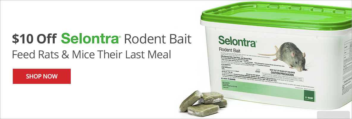 Save $10 on Selontra Rodent Bait