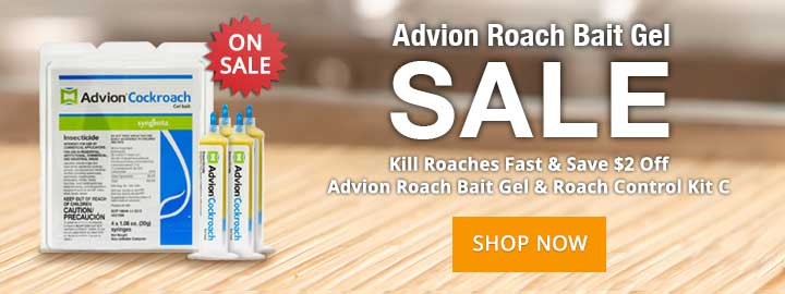 Kill Roaches Fast and Save $2 Off Advion Roach Bait Gel & Roach Control Kit C