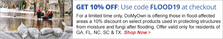 Save 10% on Flood Protection in Select Affected Areas