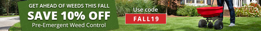 Save on Pre-Emergent Herbicides This Fall