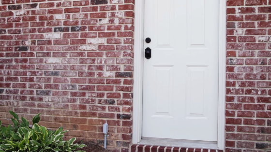 Image of the exterior door of a house