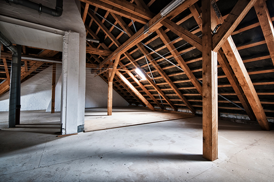 Image showing an empty house attic