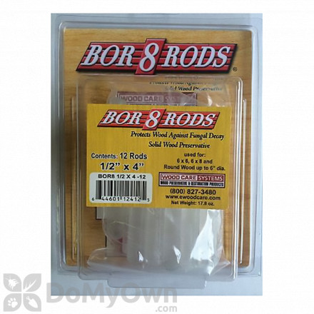 "Bor8 Rods 1/2"" x 4"""