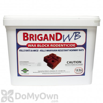 Brigand WB Wax Block Rodenticide
