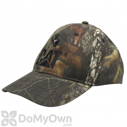 CAT Headlite LED Mossy Oak Black Logo Cap