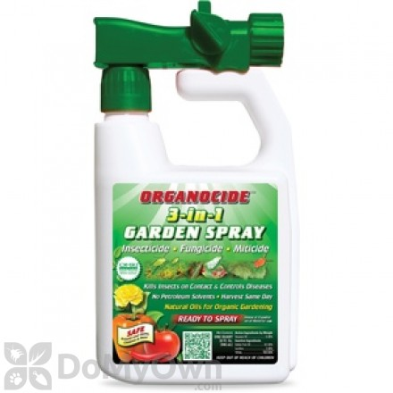 Organocide 3-in-1 Garden Spray RTS Quart With Hose End Attachment