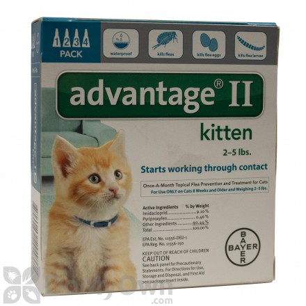 Advantage II for Cats (Kittens)
