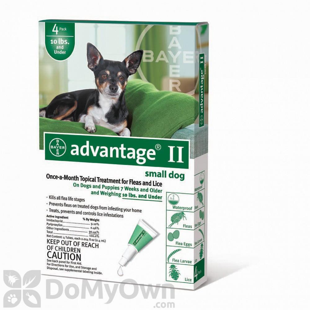 Advantage Ii Flea And Lice Treatment For Small Dogs 0 10 Lbs