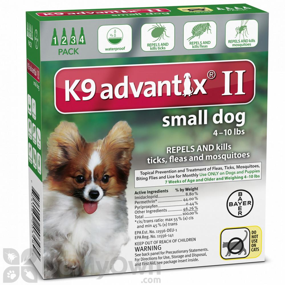 K9 Advantix Ii Topical Treatment For Small Dogs 0 10 Lbs