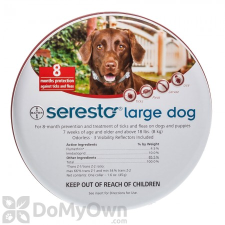 Seresto Large Dog Flea and Tick Collar (over 18 lbs)
