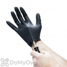 Black Lightning Disposable Nitrile Gloves - Box of 100 Large