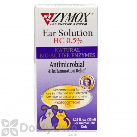Zymox Enzymatic Ear Solution with HC 0.5%