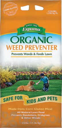 Espoma Organic Weed Preventer Lawn Food 9-0-0