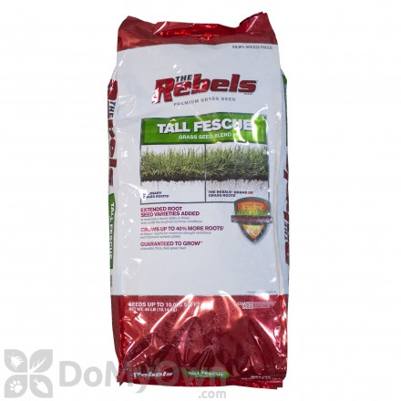 The Rebels Tall Fescue Blend Powder Coated Grass Seed 40 lb
