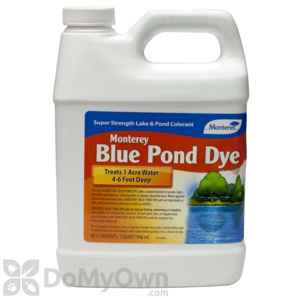 Monterey blue pond dye quart for Blue pond dye