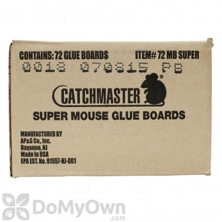CatchMaster Super Mouse Glue Boards 72 MB Super (Peanut Butter)
