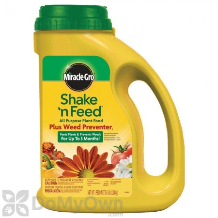 Miracle-Gro Shake n Feed All Purpose Plant Food Plus Weed Preventer 1