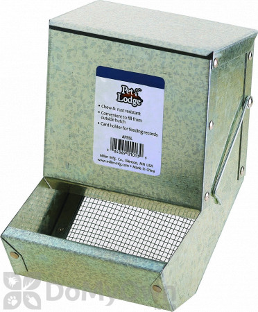 Pet Lodge Metal Small Animal Feeder with Lid and Sifter Bottom 5 in.