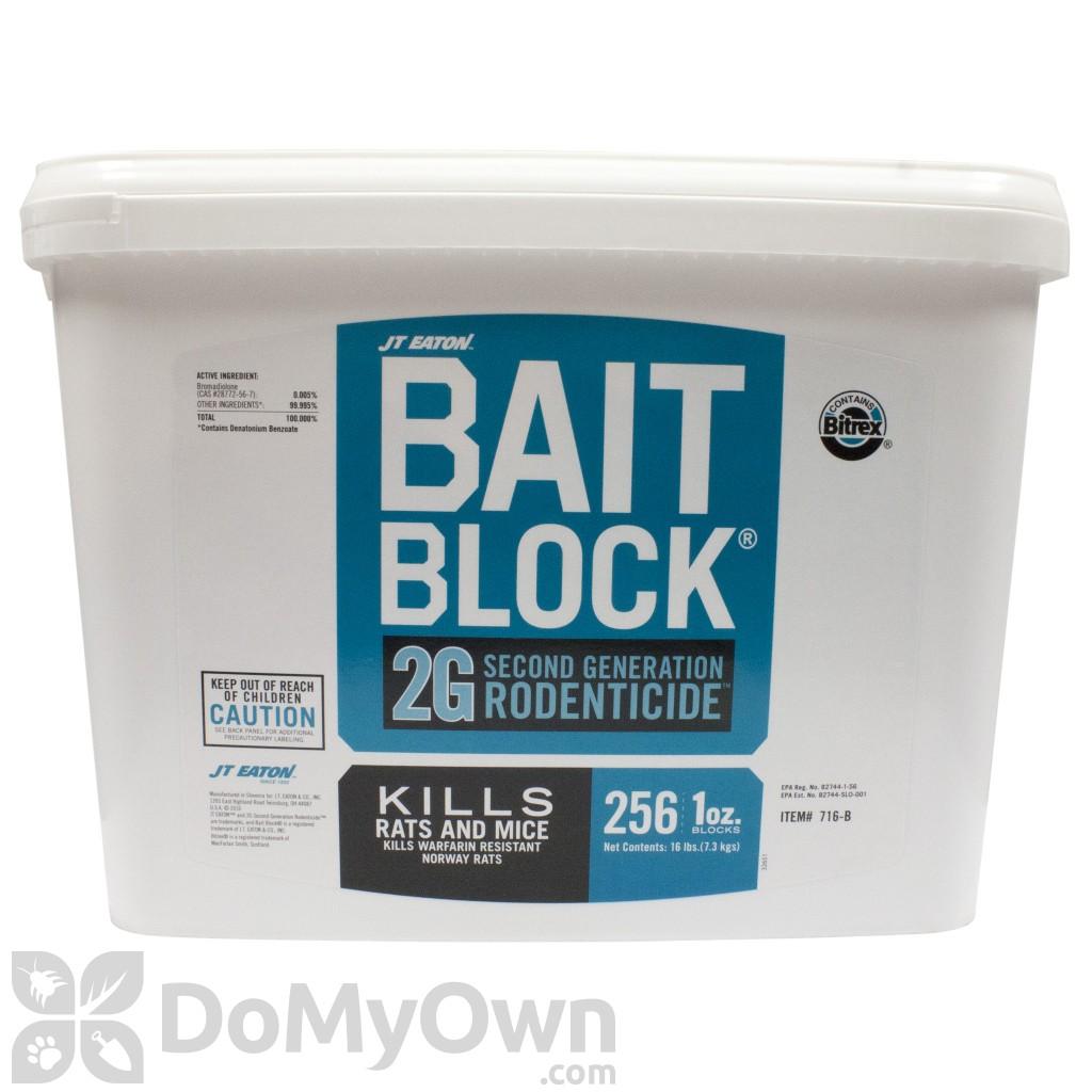 J T Eaton Bait Block 2g Second Generation Rodenticide