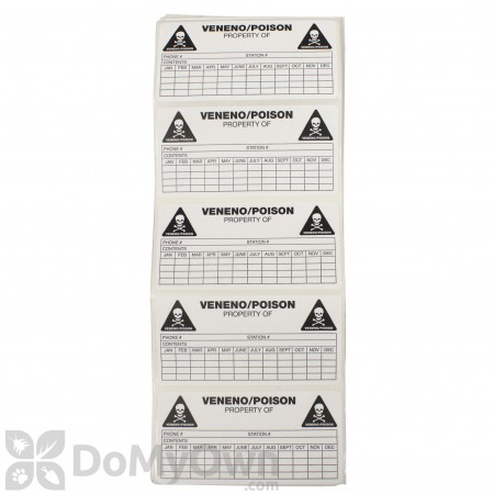 B&G Rodent Station Service Labels (25000208)