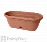 Bloem Lucca Window Box 18 in. Terra Cotta