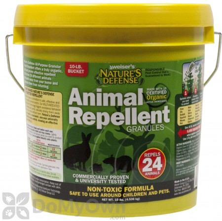 Nature\'s Defense Organic Animal Repellent Granules 10 lb Pail