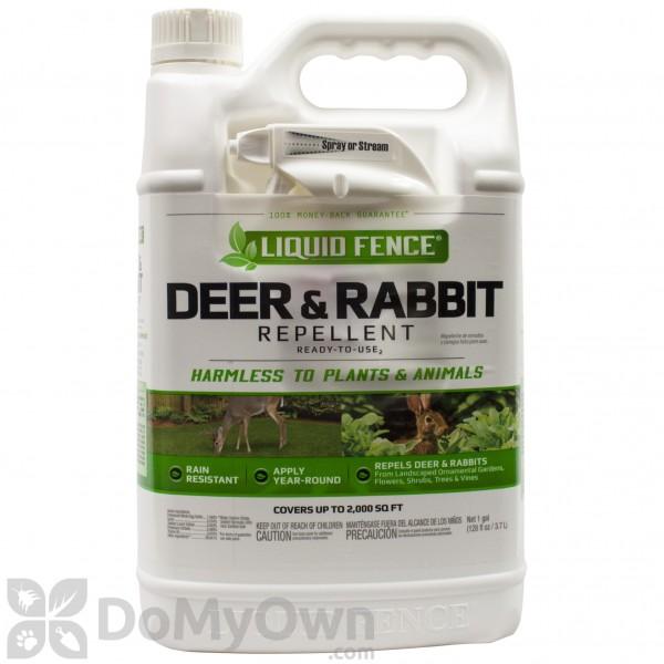 Liquid Fence Deer Rabbit Repellent RTU 109 - 1 Gallon - Free