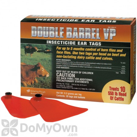 Double Barrel VP Insecticide Ear Tags