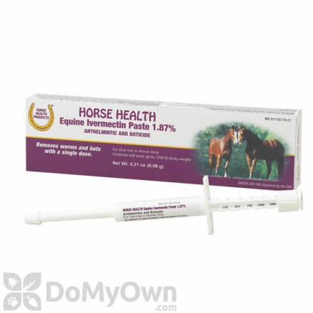 Horse Health Ivermectin Paste 1.87 Percent Dewormer for Horses