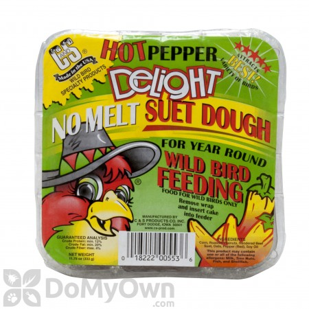 C&S Products Hot Pepper Delight Suet Dough 553 (12 cakes)