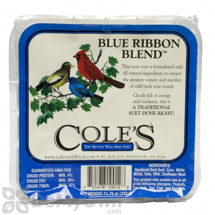 Coles Wild Bird Products Blue Ribbon Blend Suet BRSU (12 cakes)