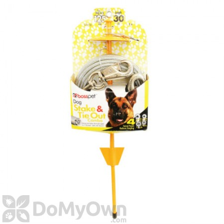 Boss Pet X - Large Tie - Out and Dome Stake Combo