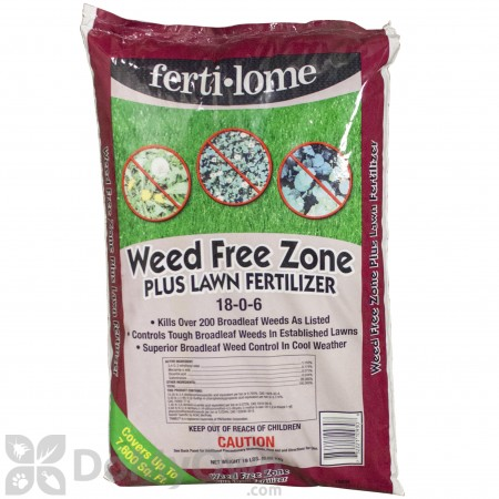 Ferti-lome Weed Free Zone Plus Lawn Fertilizer 18-0-6