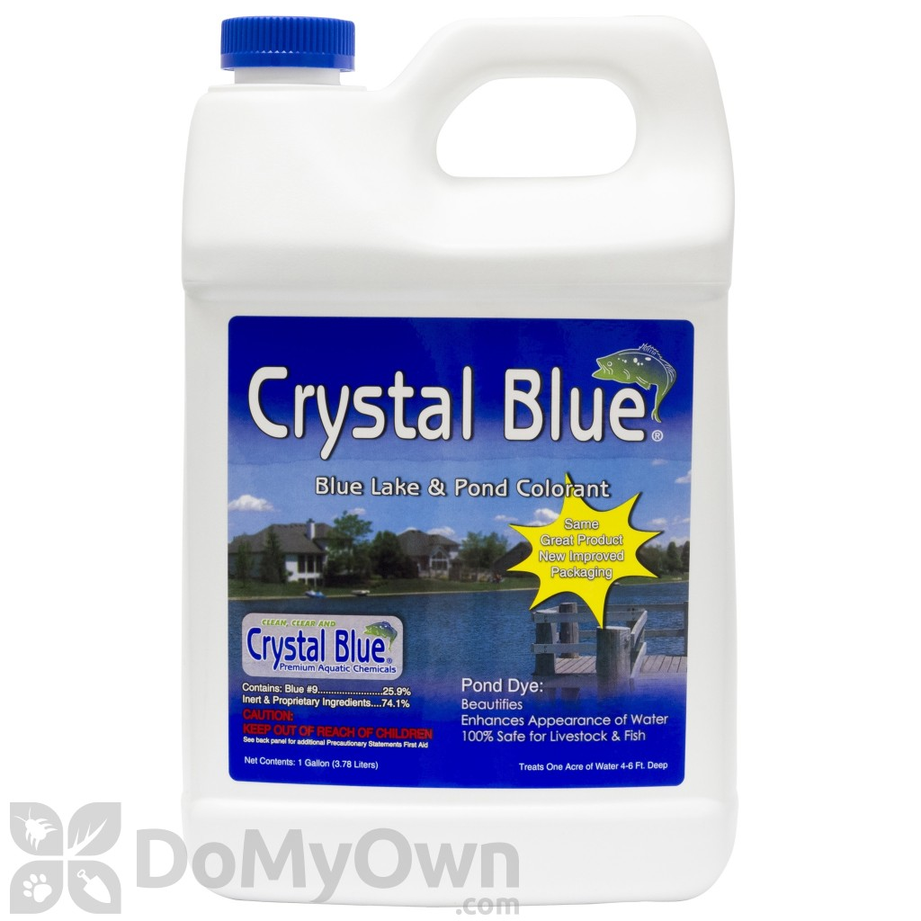 Crystal blue lake and pond colorant dye free shipping for Blue pond dye