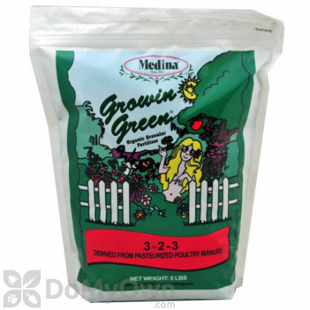 Medina Growin Green Organic Granular Fertilizer 3 - 2 - 3