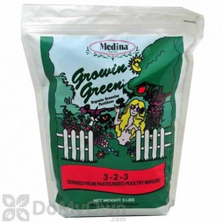 Medina Growin Green Organic Granular Fertilizer 3 - 2 - 3