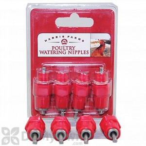 Harris Farms Poultry Watering Nipples - 4 pack