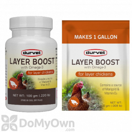 Durvet Layer Boost with Omega - 3 - Box of 40 Packets