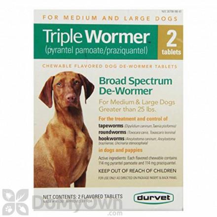 Durvet Triple Wormer Medium and Large Dogs