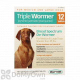 Durvet Triple Wormer Medium and Large Dogs - 12 ct