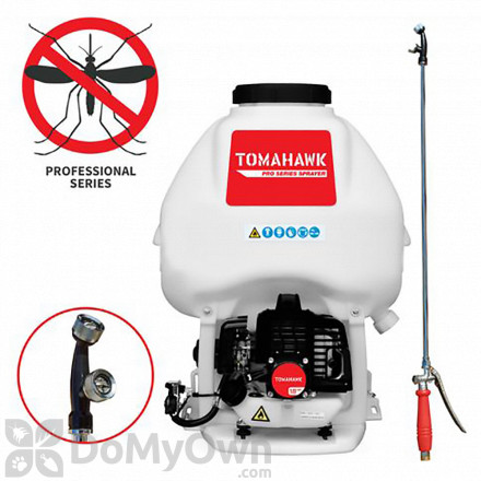 Tomahawk Pro Series 6.6 Gallon Gas Power Backpack Sprayer with Twin Tip Nozzle