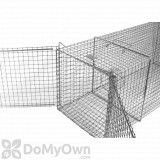 Tomahawk 406W PC Rigid Single Door XL Fish Trap with Powder Coating and Extension Wings