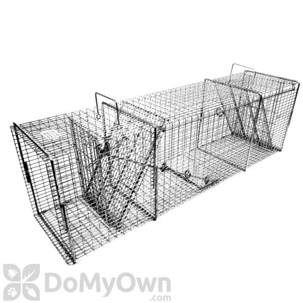 Professional Series Flush Mount Trap with Rear Sliding Door for Raccoon and Similar Size Animals Woodchucks Tomahawk Live Trap Model 608.2SS Feral Cats Badgers