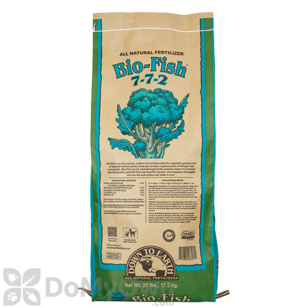 Down To Earth Bio - Fish Natural Fertlizer  7 - 7 - 2 (25 lb)