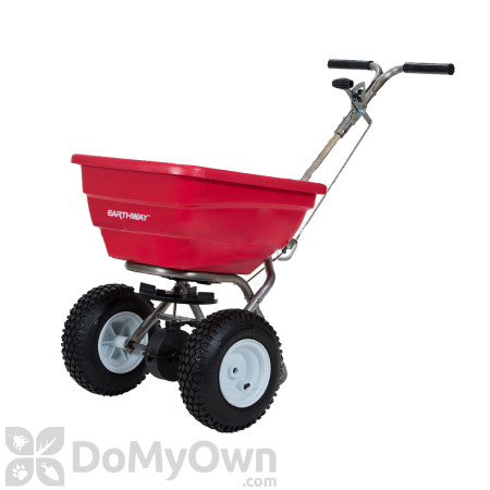 Earthway F80S Commercial Stainless Steel Broadcast Spreader with Standard Output Tray