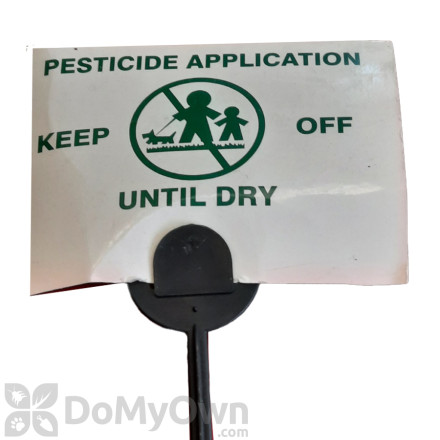 Application of Pesticide Signs with Stakes