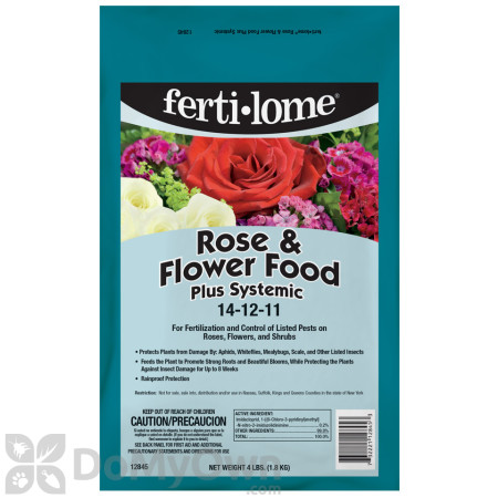 Fertilome Rose and Flower Food Plus Systemic 14 - 12 - 11