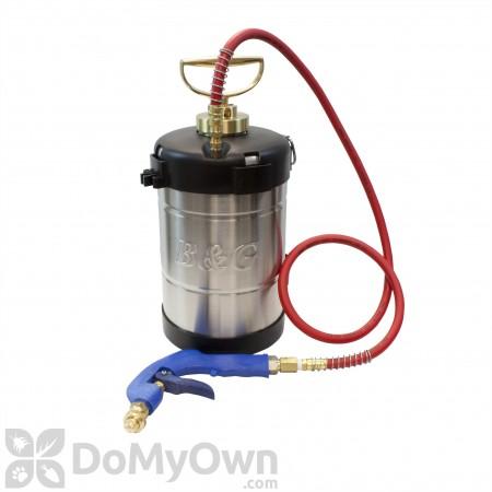 B&G 1 Gallon Sprayer Ban-Drip Pistol Nozzle & 4 Way Tip (N114-S)